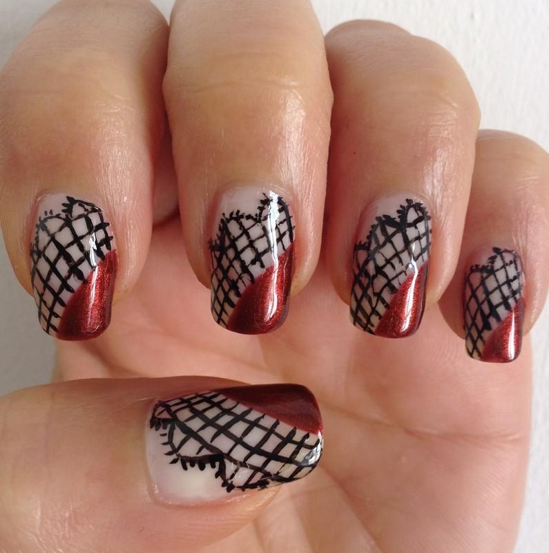 Lacey Dacey nail art by Idreaminpolish