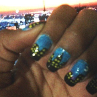 Lights of the city  nail art by Isabella