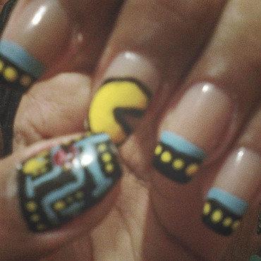 Pac-nails  nail art by Isabella