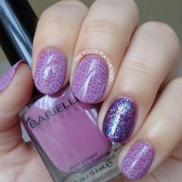 Purple Three Leaf Clover Pattern Stamping nail art by Lisa N