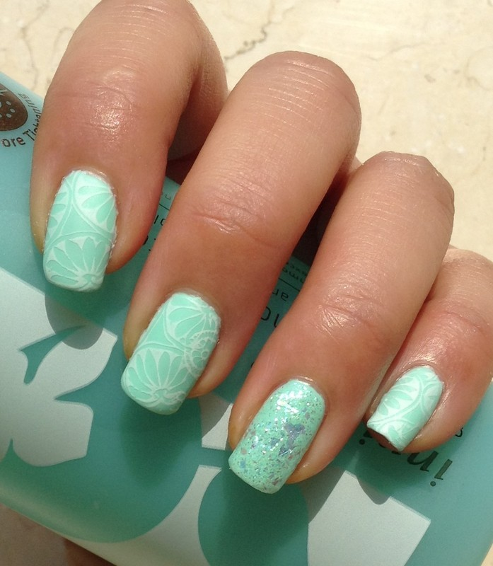 Persimmon Porcelain nail art by Idreaminpolish