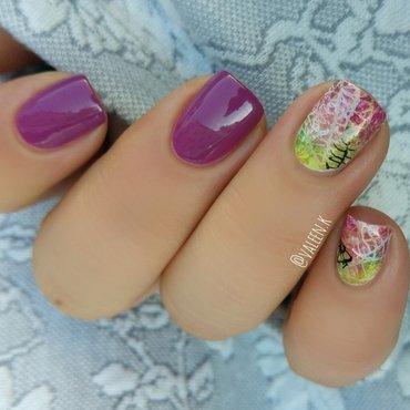 Spring break  nail art by Valentina