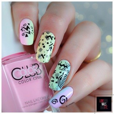 Fan of the 80's nail art by Love Nails Etc