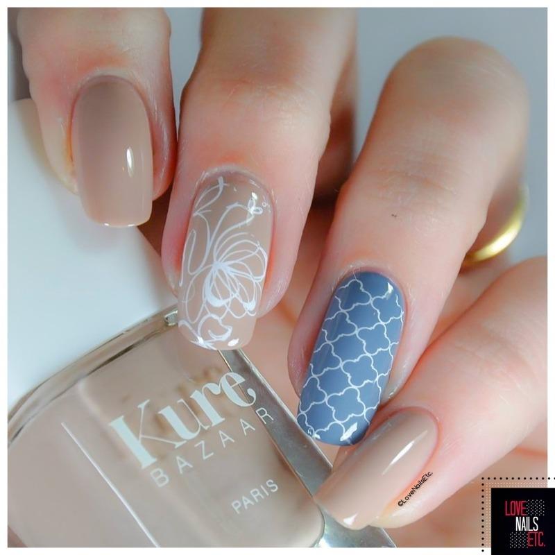 Bi-color nail art by Love Nails Etc