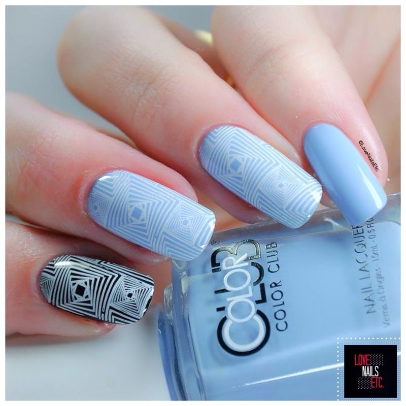 Optical illusion nail art by Love Nails Etc