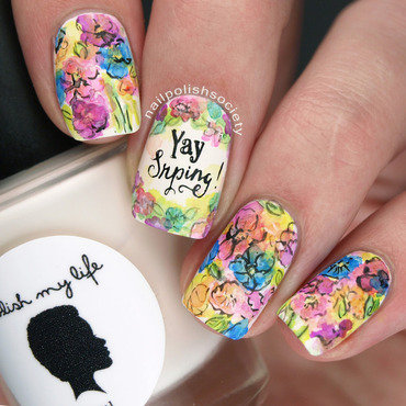 Go Home Spring, You Are Drunk nail art by Emiline Harris