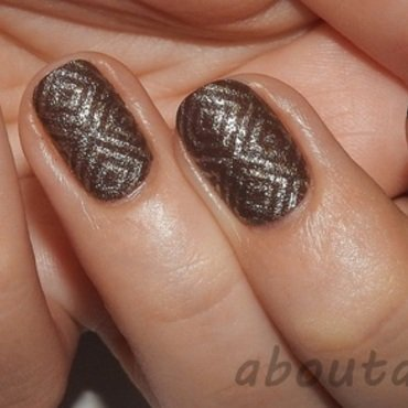 Hot chocolate nail art by Kasia