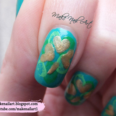 St 20particks 20day 20nails 20gold 20shamrock 20nail 20art 20design 20tutorial thumb370f