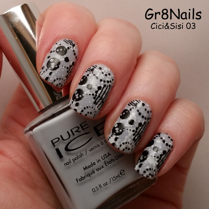 Cici&Sisi 03 nail art by Gr8Nails
