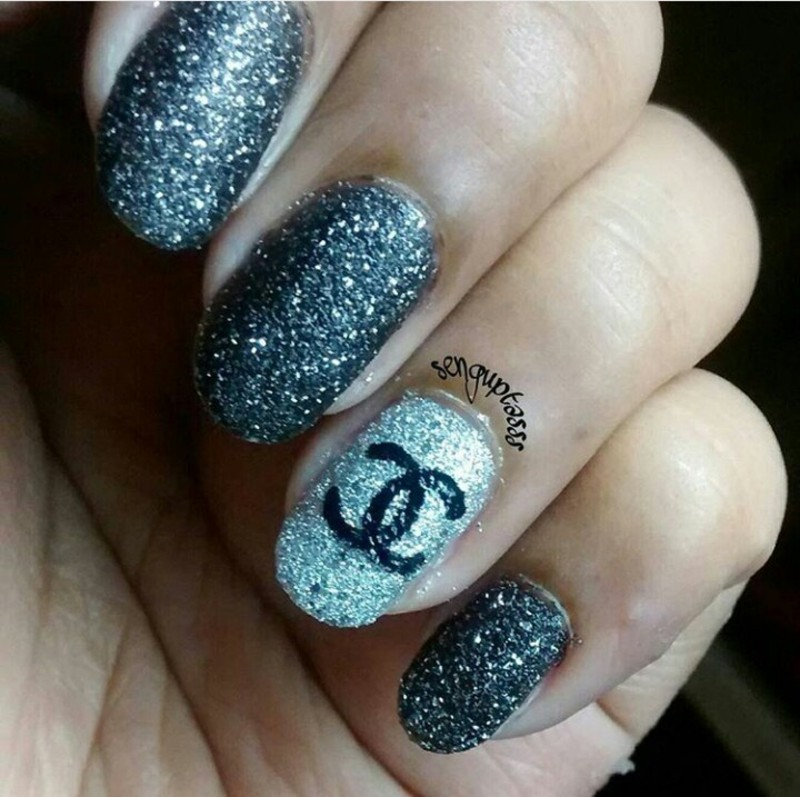 Nailed the logo - Chanel..!!! nail art by Sohini  Sengupta