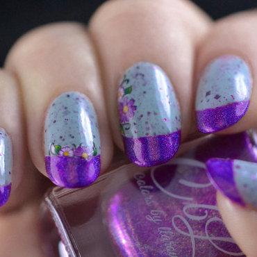 Fleur de France nail art by Meltin'polish