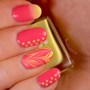 Summer... Do you remember?  nail art by Meltin'polish