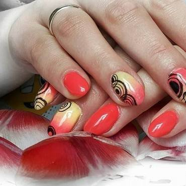 Ring nail art by Ewa EvaNails