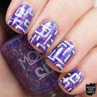 Model city polish itty bitty bikini purple glitter geometric nail art 3 thumb370f