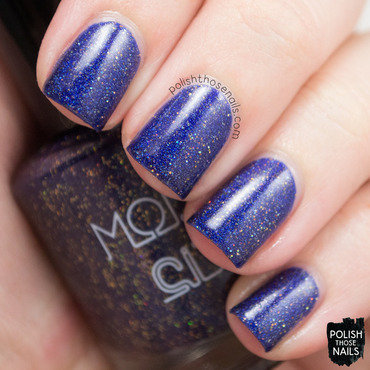 Model city polish cosmic lovers blue holo glitter swatch 3 thumb370f