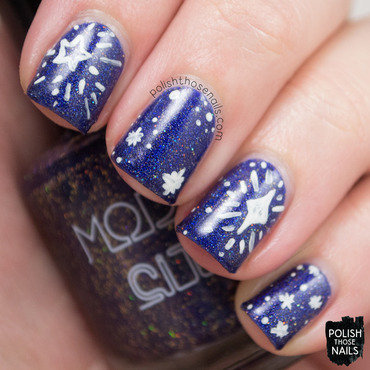 Starry Lovers nail art by Marisa  Cavanaugh