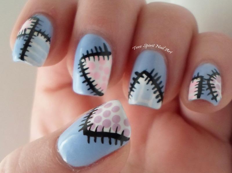 Patchwork Nail Art nail art by Free_Spirit_Nail_Art