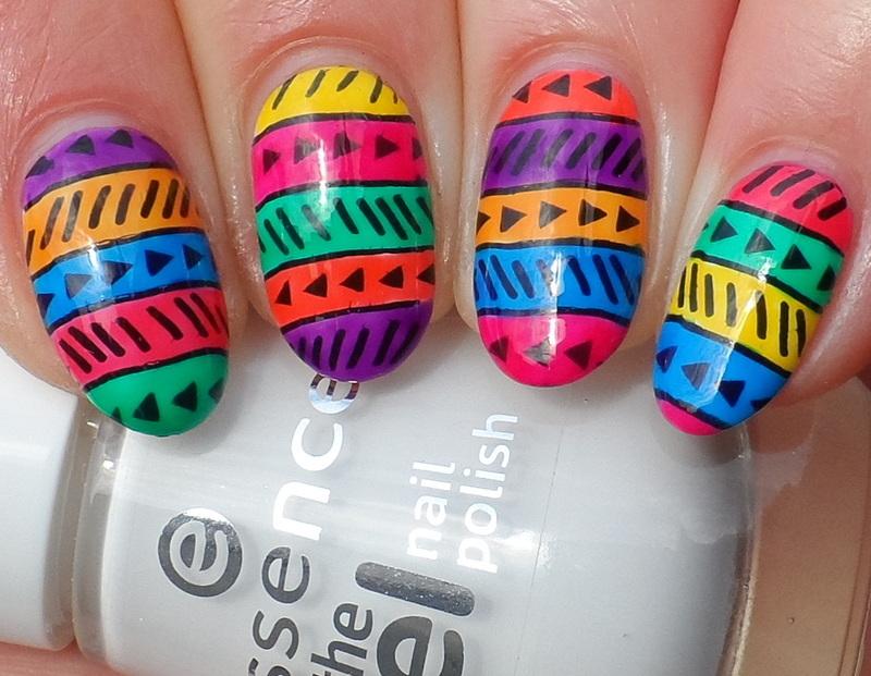 Leadlight Tribal nail art by Plenty of Colors