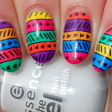 Leadlight Tribal nail art by Plenty of Colors