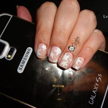 Stars Nails nail art by Leneha Junsu