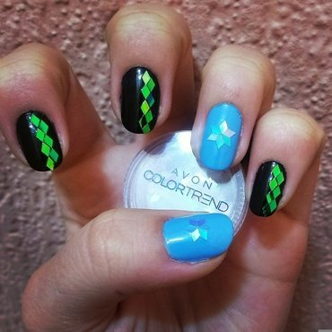 Diamondzzzzz nail art by 9Sh4DeSOfBl4ckBooD