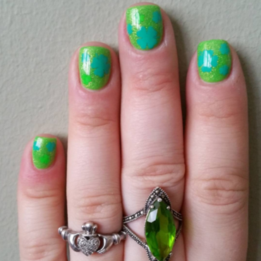 St. Patty's Day Nails nail art by Kristen Lovett