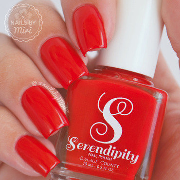 Serendipity Big Red Bow Swatch by xNailsByMiri