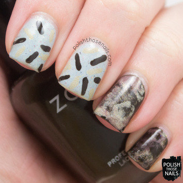Coffee & Donuts nail art by Marisa  Cavanaugh