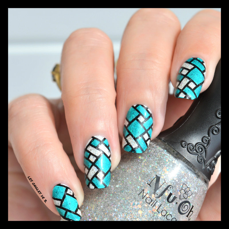 Stained Glass nail art by Les ongles de B.