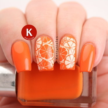 Citrus nails nail art by Claire Kerr
