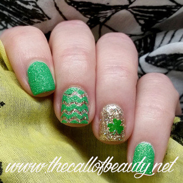 Saint Patrick's Manicure nail art by The Call of Beauty