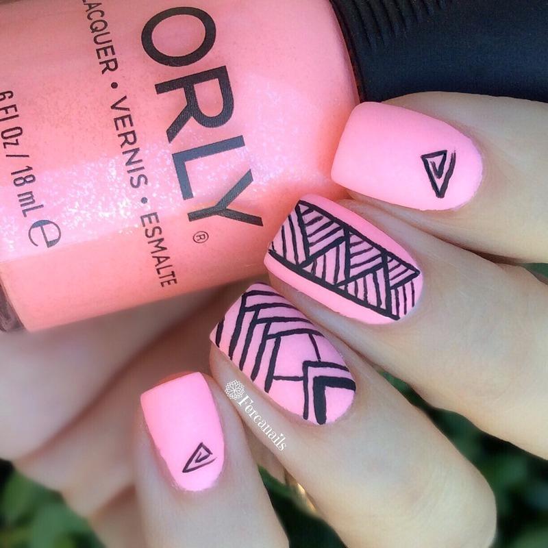 Geometrical nails nail art by Fercanails