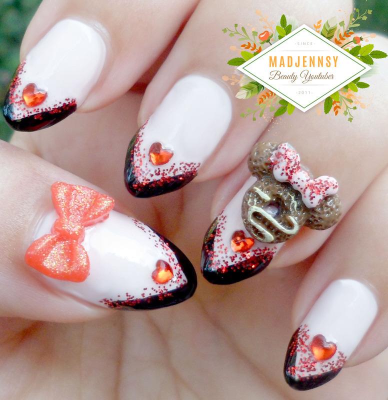 Disney Minnie Mouse Nail Art nail art by madjennsy Nail Art