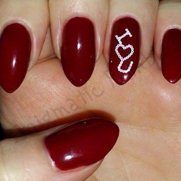I <3 U nail art by Enigmatic Rambles
