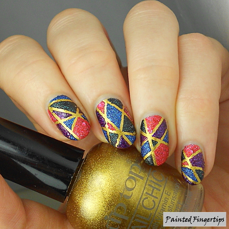 Colour blocking nail art by Kerry_Fingertips