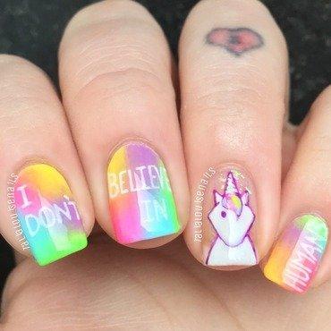 Unicorn nails nail art by Talia  Louise