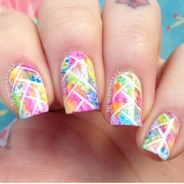 Fishtail  nail art by Talia  Louise