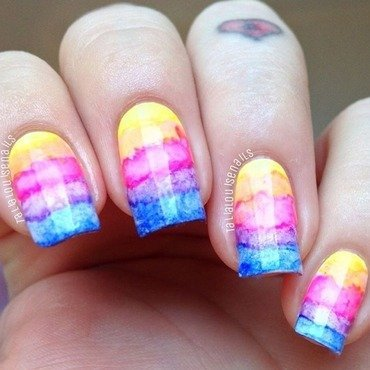 Watercolour  nail art by Talia  Louise