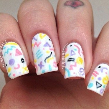 Retro  nail art by Talia  Louise