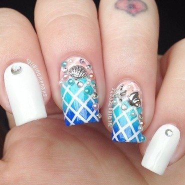 Under the sea nail art by Talia  Louise
