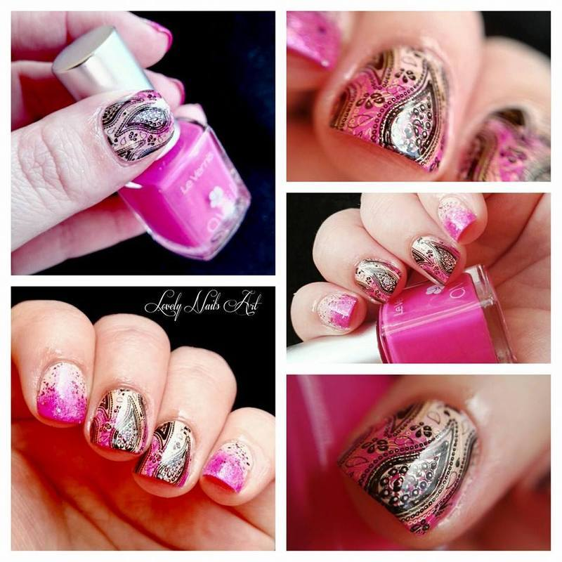 Double stamping  nail art by Lovely Nail's  Art