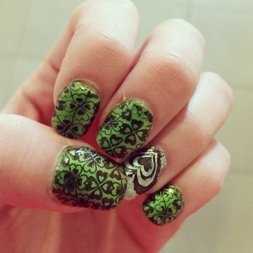 St Patrick's day nails  nail art by truhero