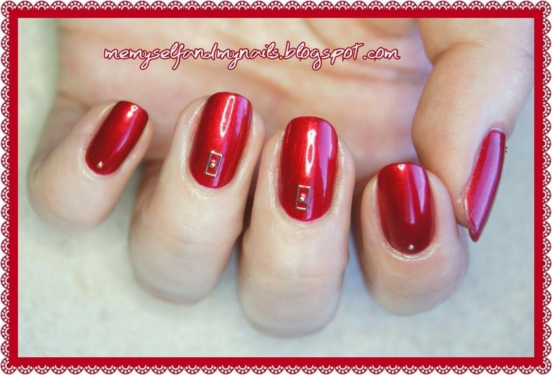 Royal Red nail art by ELIZA OK-W