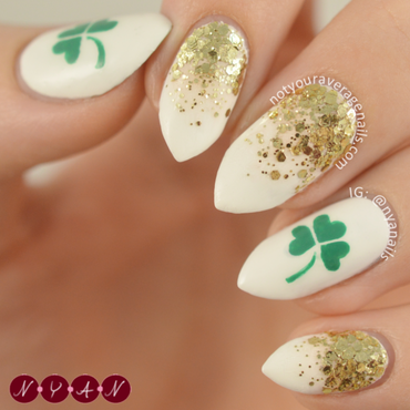 Luck of the Irish nail art by Becca (nyanails)