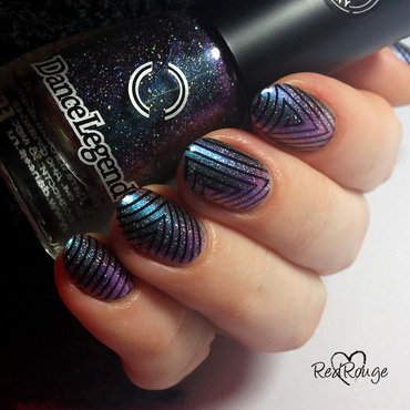 Milky Way nail art by RedRouge