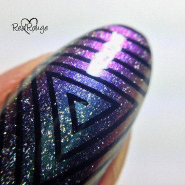 Milky Way macro nail art by RedRouge