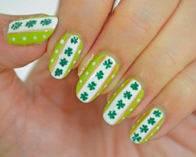 St. Patrick's Day Nails  nail art by NailsContext