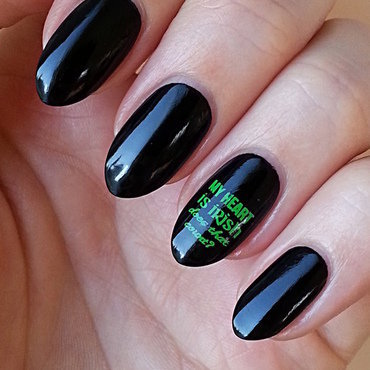 St. Patrick's Day Manicure nail art by Mgielka M