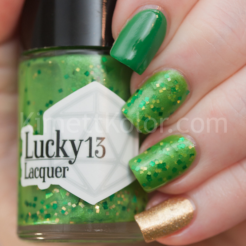 Lucky 13 Lacquer Too Smart for the Likes of You Swatch by Kimett Kolor