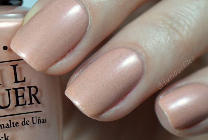 OPI Humidi-tea Swatch by Furious Filer